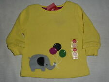 Gymboree MERRY & BRIGHT Yellow Elephant Balloons Thermal Top Shirt NWT 3-6 baby