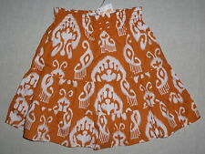 Gymboree BATIK SUMMER Orange White Tiered Skirt NWT Beach Summer Aloha Party