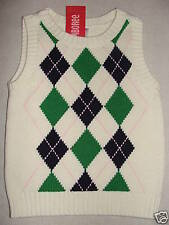 Gymboree PREP SCHOOL Ivory Blue Pink Green Argyle Sweater Vest NWT School Fall 4
