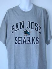 San Jose Sharks Tee Shirt Majestic Big Tall Mens Sizes Ash Gray Logo NHL Hockey