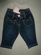 Gymboree MISCHIEVOUS MONKEY Blue Denim Jean Pink Button Bow Pocket Pants NWT