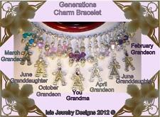 Isis Jewelry Generations Charm Birthstones Bracelet made with Swarovski Crystals