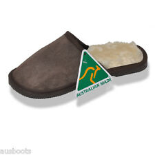 Mens Australian Made genuine Sheepskin Slippers - Scuffs Free Aus Wide Shipping