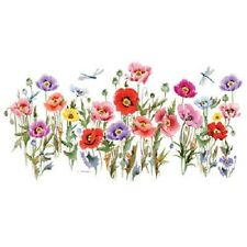 Poppy Party  Flowers & Dragonflies  Tshirt   Sizes/Colors