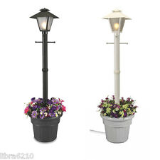 "Made in USA 80"" Cape Cod Outdoor Planter Patio Yard Coach Light Post Lamp NEW"