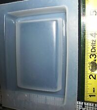 Rectangular paperweight base mold resin jewelry making crafts metal clay mould