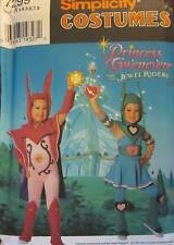 Vintage Simplicity SEWING Pattern 7299 Girls Halloween Costume 3-8 FF Princess