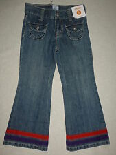 Gymboree WINTER PENGUIN Denim Blue Jean Ribbon Bow Cuff Pants NWT Fall School 4