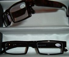 2 pr MENS  HIGH FASHION READING GLASSES young EXECUTIVE design compact reader