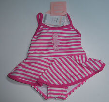 NWT Gymboree By the Seashore Seahorse Stripe Skirted Swimsuit w/ Coated Liner