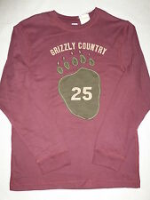 Gymboree GRIZZLY LAKE Maroon Burgundy Bear Claw 25 Grizzly Country Shirt NWT BTS