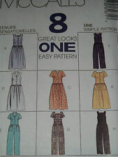 McCALL'S #8167 - LADIES (8 STYLE)  FRONT BUTTON JUMPSUIT - ROMPER PATTERN 4-22uc