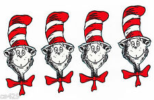 DR SEUSS CAT IN THE HAT SET  FABRIC APPLIQUE IRON ON