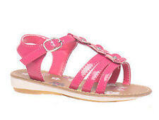Girls Shoes Grosby Jessica Sandals Fuschia or White Patent Flower  Size 6-12 New