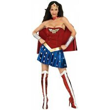 Wonder Woman Costume Adult Female Superhero Halloween Fancy Dress
