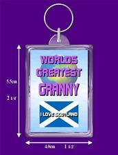 Scottish Flag Worlds Greatest Keyring, Range Auntie to Wife I Love Scotland Gift