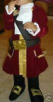 Disney Store Jake and the Neverland Pirates Captain Hook Costume Boys Deluxe