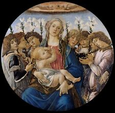 Mary With Child Singing Angels Sandro Botticelli Repro Art Photo/Poster Print S