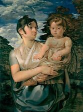 Pauline Runge With Her Two Year Old Son Philipp Otto Runge 1807 Art Poster/Pho