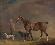 Sportsman With Shooting Pony Gun Dogs Edwin W Cooper Beccles 1815-Art Poster /