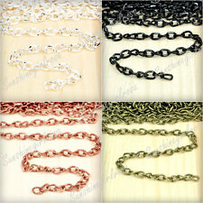 4M Wholesale Twisted Curb Unfinished Chains Jewelery Making Findings Hot Sell