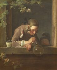 Soap Bubbles Jean Simeon Chardin 1734 Art Photo/Poster Repro Print Many Sizes