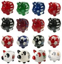OFFICIAL FOOTBALL CLUB - Ceramic PIGGY BANK (Money Box){Birthday/Christmas Gift}