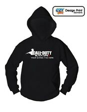 CALL OF DUTY Black Ops 2 HOODIE- PERSONALISE WITH GAMES TAG - Xbox PS3 MENS KIDS