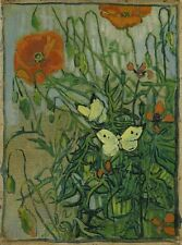 Butterflies & Poppies Vincent Van Gogh April 1890-May 1890 Art Photo/Poster Rep
