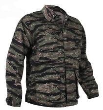 tiger stripe camo bdu shirt military style camouflage coat rothco 7900