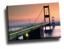 Severn Bridge, Near Bristol, England Giclee Canvas Picture Art
