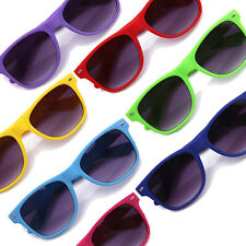 2 Pairs Rubber Coated Retro Sunglasses Matte Soft Feel 7 Colors Hipster Fixie