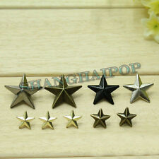 New 50 x Rapid Rivet Star Studs Spot Bronze/Silver/Golden Shoes/Belt/Leather DIY