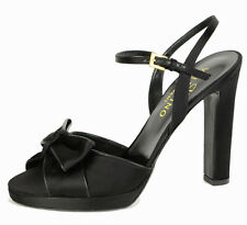 VALENTINO GARAVANI SHOES BLACK SATIN BOW SANDALS sz 41 / 11