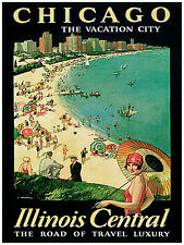 1071.Chicago Vacation City Art Decor POSTER.Graphics to decorate home .Travel.
