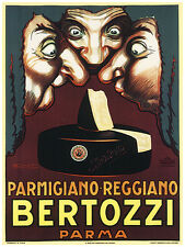 190.Art Decor POSTER.Graphics to decorate home office.Bertozzi parma Cheese Ad.