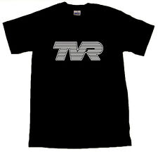 TVR White Text Logo Cool Black T-SHIRT ALL SIZES