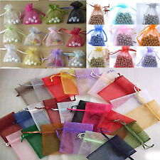 Wholesale Lots 500pcs 7x9cm Organza Gift Bag Jewelry Pouch Wedding Favor