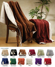"Warm Ultra Soft Cuddly Sherpa Reversible Throw Blanket 50""x60"""