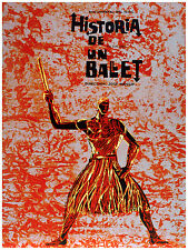 210.Art Decor POSTER.Graphics to decorate home office.Historia de un Ballet.Red.