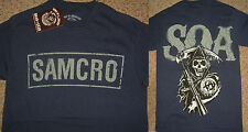 Sons of Anarchy SOA Samcro Cracked Logo Tv Show T-Shirt Nwt