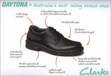 CLARKS BLACK LEATHER DAYTONA LADIES/WOMENS/GIRLS SCHOOL SHOES ON EBAY AUSTRALIA!