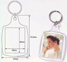 Wholesale Blank Clear Acrylic Keyrings 35x45 Photo Insert Craft Keychains 95457