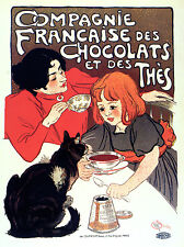 2145 French Chocolate Ad Art Decoration POSTER.Graphics to decorate home office.