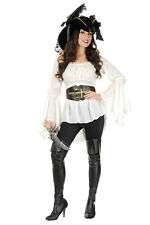 Pirate Shirt Free Belt Poet Bell Sleeve Blouse Angelica Penelope Caribbean Wench