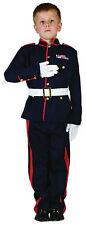 BOYS ARMY UNIFORM SOLDIER MILITARY KIDS FANCY DRESS UP COSTUME OUTFIT 4-6-8-10