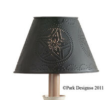 "Lamp Shade - Punched Metal Star in Black By Park Designs - 6"", 10"" or 12"" Round"