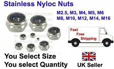 A2 STAINLESS NYLOC INSERT NUTS, DIN985 STANDARD PITCH, NYLOC STAINLESS LOCK NUT