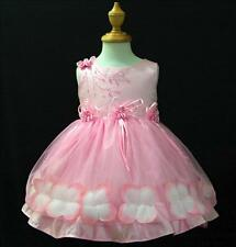 PP476 Pink Easter Holiday Wedding Party Flower Girls Dress Outfit SZ 1-2-3-4-5-6