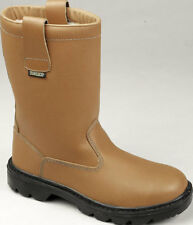 TUFFKING SAFETY  WORK WEAR BROWN FUR LINED RIGGER BOOT SBP 9068 SIZES 7 TO 11
